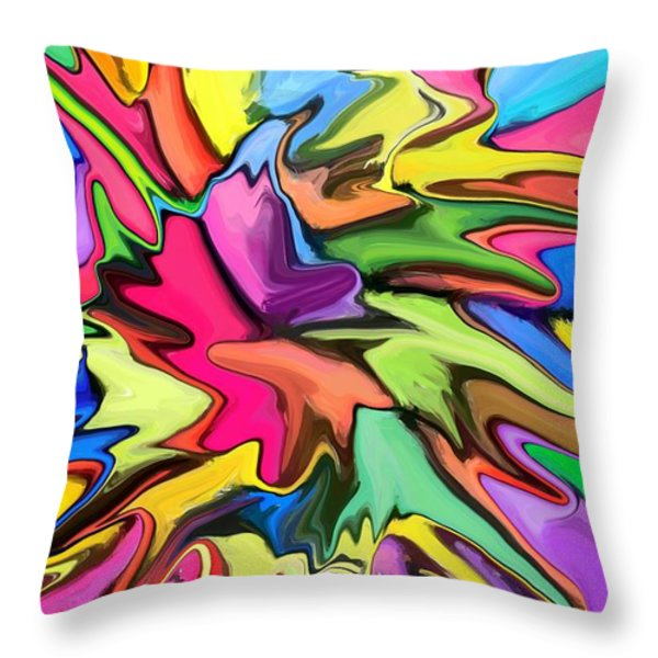 Popsicle Throw Pillow by Chris Butler