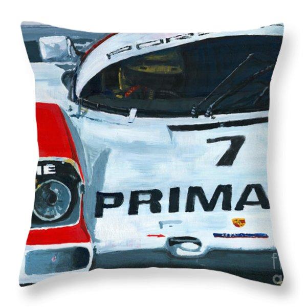 Porsche 962 Le Mans 24 Throw Pillow by Yuriy Shevchuk
