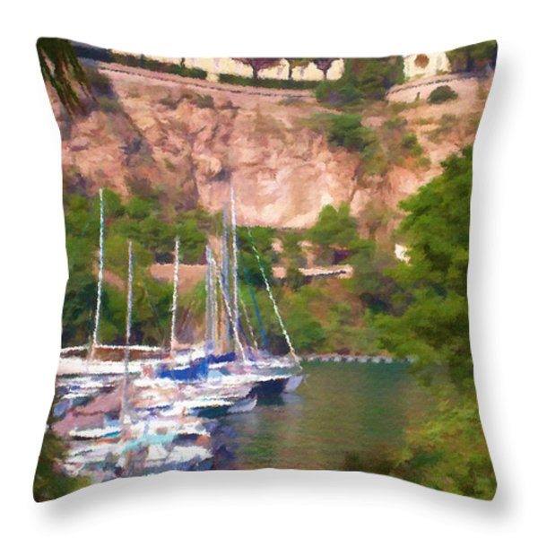 Port And Palace Throw Pillow by Jeff Kolker