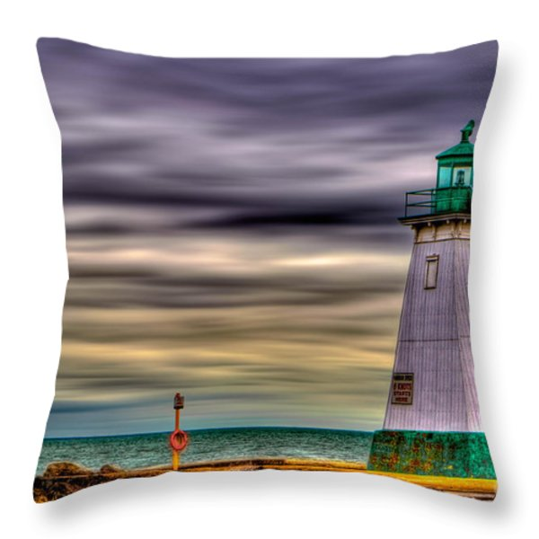 Port Dalhousie Lighthouse Throw Pillow by Jerry Fornarotto