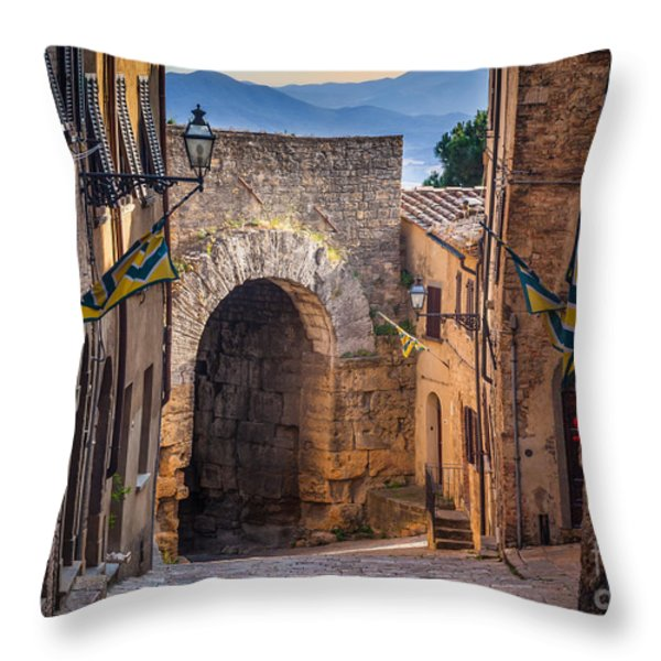Porta Dell'arco Throw Pillow by Inge Johnsson