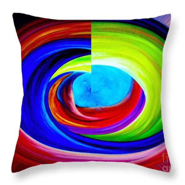 Portal In Space Abstract Art Throw Pillow by Annie Zeno