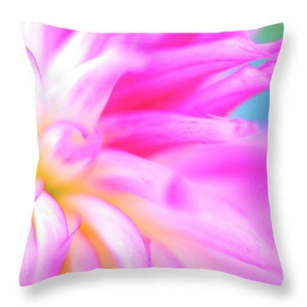 Portland Dahlia Throw Pillow by Kathy Yates