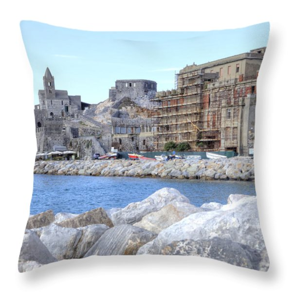Porto Venere Throw Pillow by Joana Kruse