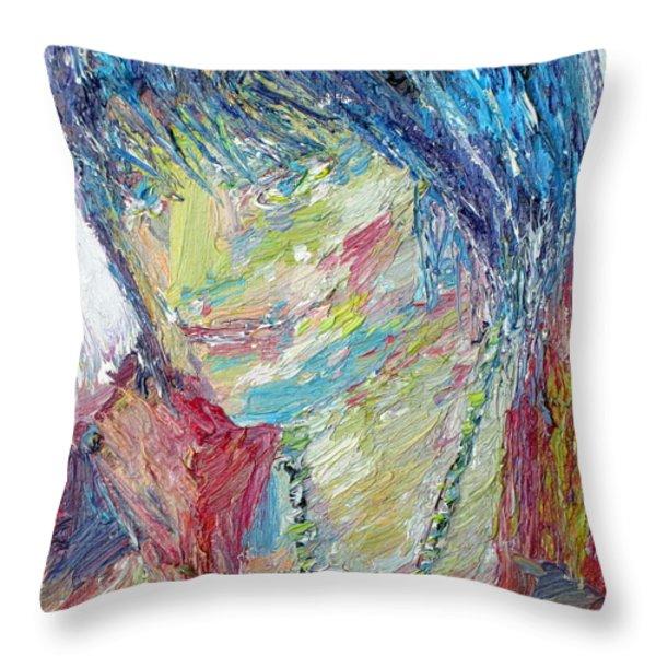 Portrait Of A Boy - Marcus Throw Pillow by Fabrizio Cassetta