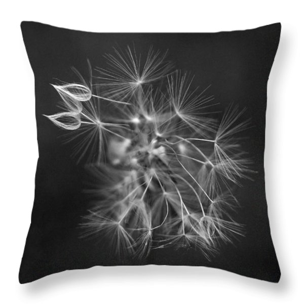 Portrait Of A Dandelion Throw Pillow by Rona Black