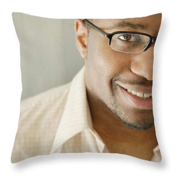Portrait Of A Man Throw Pillow by Darren Greenwood