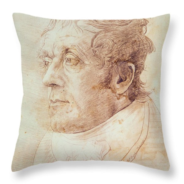 Portrait Of Jmw Turner Throw Pillow by Cornelius Varley