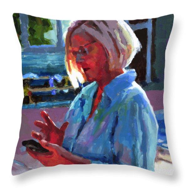 Portrait of Kelly Throw Pillow by Douglas Simonson