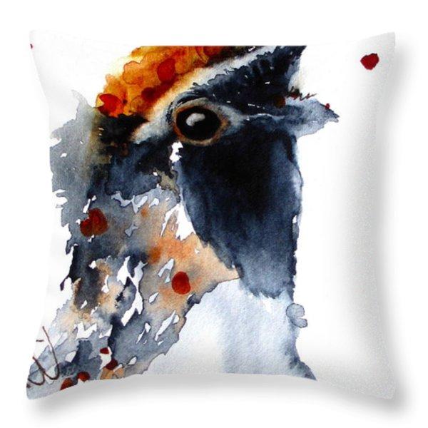 Portrait Posing Throw Pillow by Dawn Derman