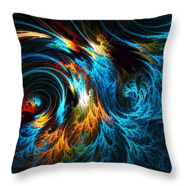 Poseidon's Wrath Throw Pillow by Lourry Legarde