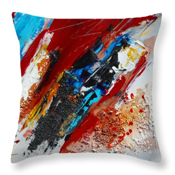 Positive Energy Throw Pillow by Elise Palmigiani