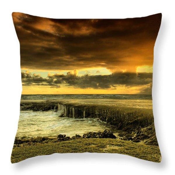 Positive Reinforcement Throw Pillow by Andrew Paranavitana