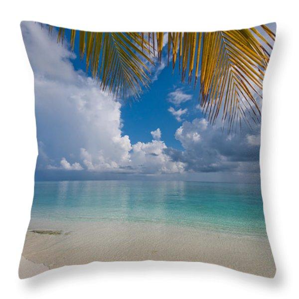 Postcard Perfection. Maldives Throw Pillow by Jenny Rainbow