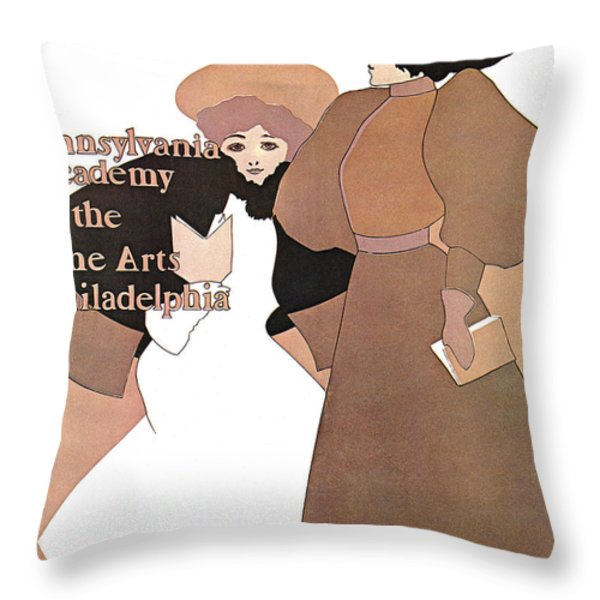 Poster Show 1896 Throw Pillow by MAXFIELD PARRISH