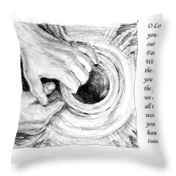 Potter And Clay Throw Pillow by Janet King