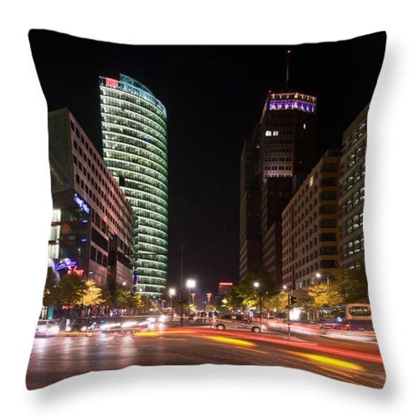 Potzdamer Platz Throw Pillow by Steffen Gierok