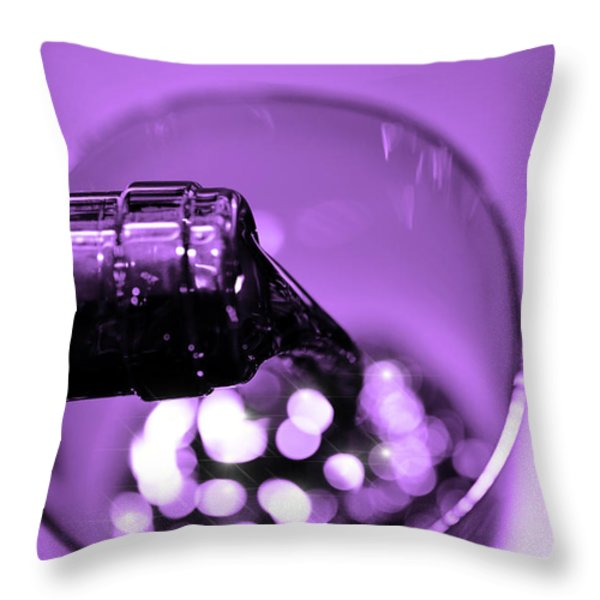 Pour Wine Throw Pillow by Toppart Sweden