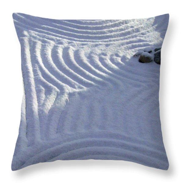 Powder In Zen Two Throw Pillow by Feile Case