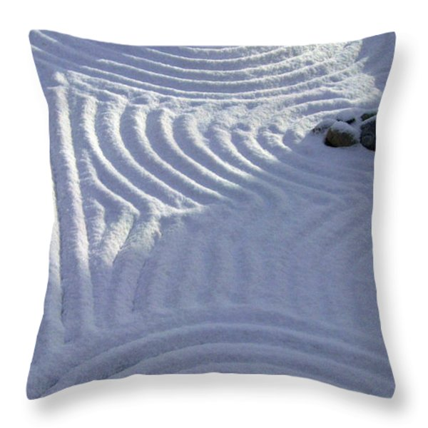 Powder In ZEN Two Throw Pillow by Feile Case