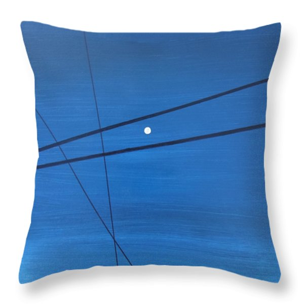 Power Lines 09 Throw Pillow by Ronda Stephens