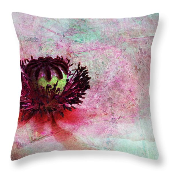 Power Of Poppy Throw Pillow by Claudia Moeckel