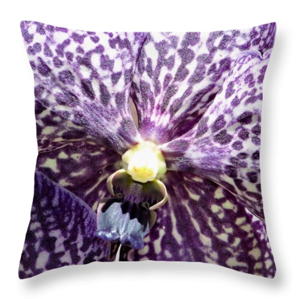 Power Of Purple Throw Pillow by Karen Wiles