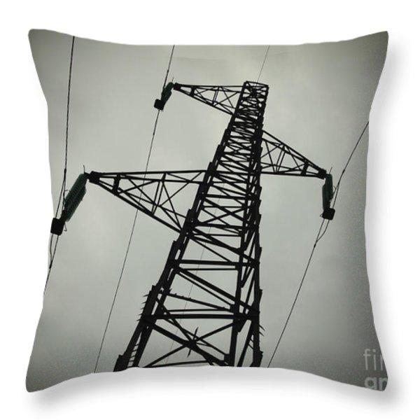 Power Pole Throw Pillow by Bernard Jaubert