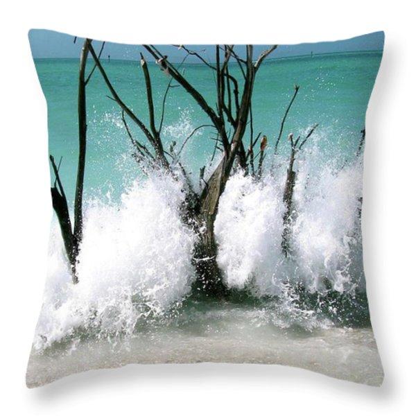 Power Wave  Throw Pillow by AR Annahita