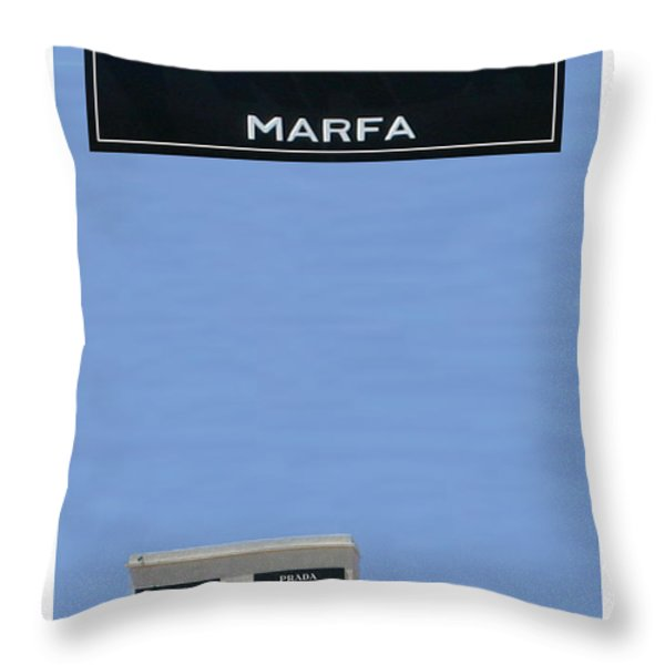 PRADA MARFA TEXAS Throw Pillow by Jack Pumphrey