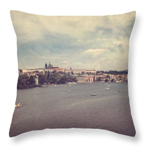 Prague Days II Throw Pillow by Taylan Soyturk