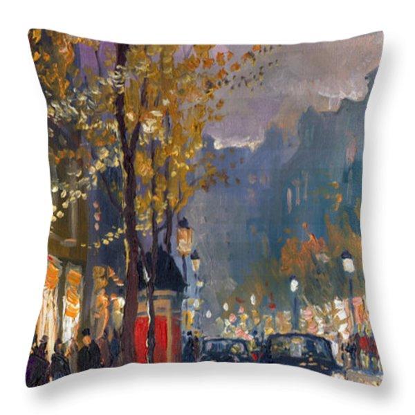 Prague Old Vaclavske Square 01 Throw Pillow by Yuriy  Shevchuk