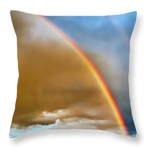 Prairie Rainbow Throw Pillow by Ellen Heaverlo