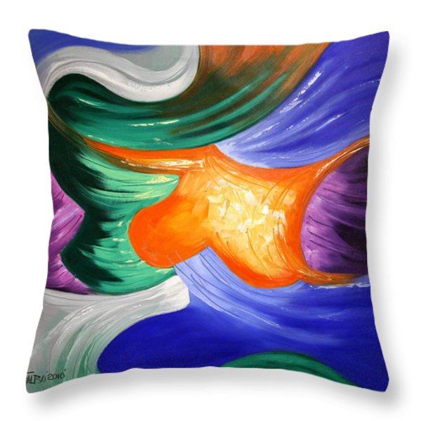 Praise The Lord Throw Pillow by Anthony Falbo