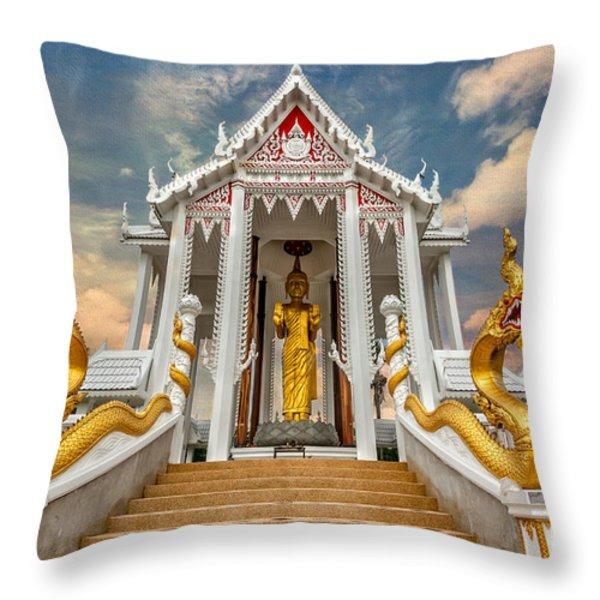 Pranburi Temple Throw Pillow by Adrian Evans