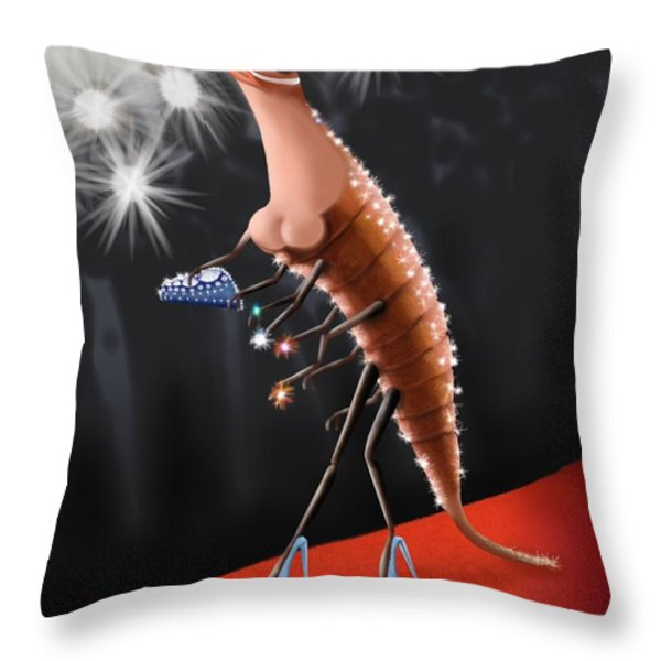 Prawn Star Throw Pillow by Marlene Watson