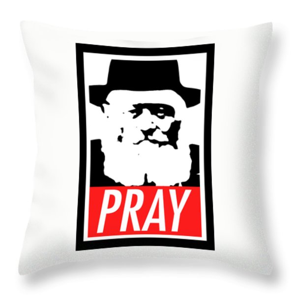 Pray Throw Pillow by Anshie Kagan