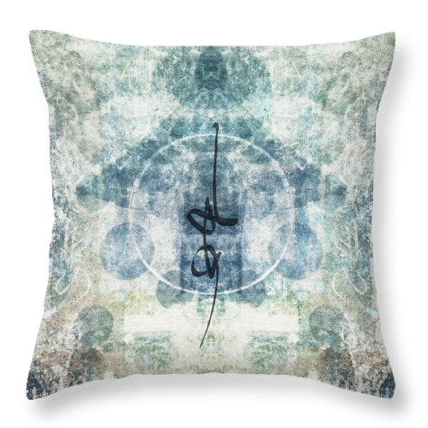 Prayer Flag 13 Throw Pillow by Carol Leigh