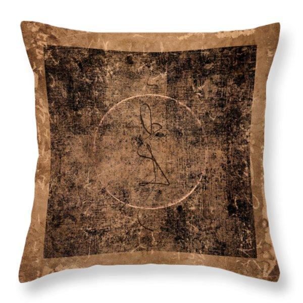 Prayer Flag 208 Throw Pillow by Carol Leigh