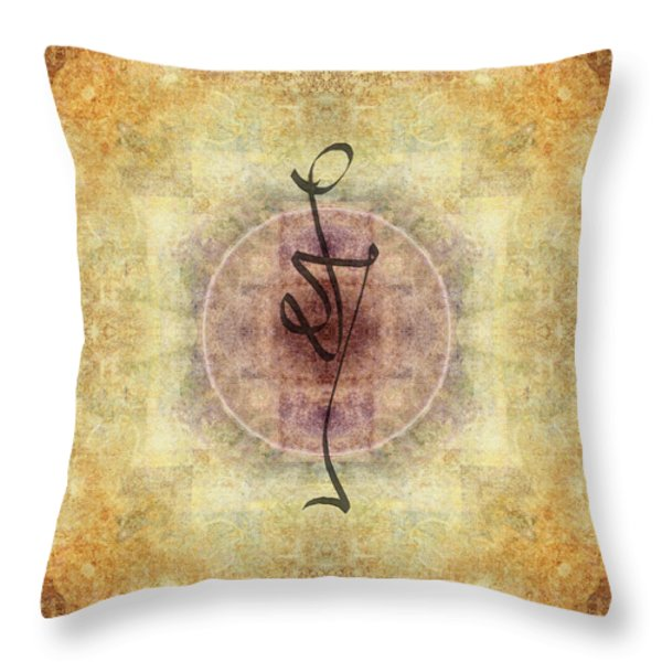 Prayer Flag 38 Throw Pillow by Carol Leigh