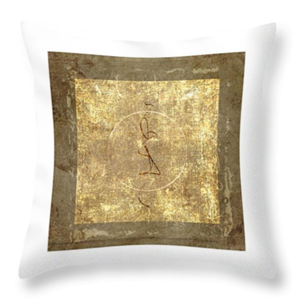Prayer Flag Triptych Series Two Throw Pillow by Carol Leigh