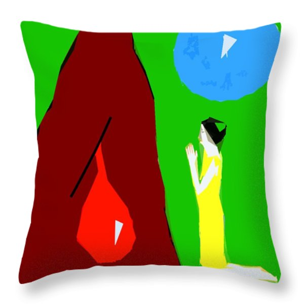 PRAYING FOR A MIRACLE Throw Pillow by Patrick J Murphy