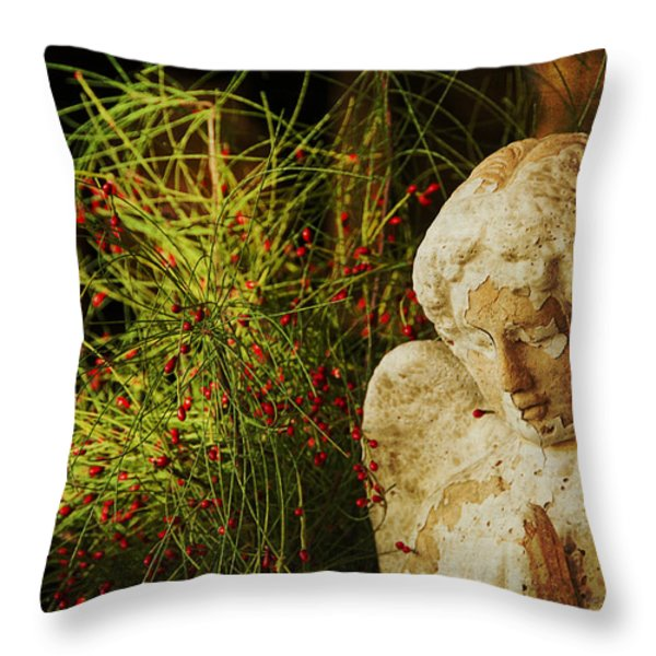 Praying for Peace Throw Pillow by Terry Rowe