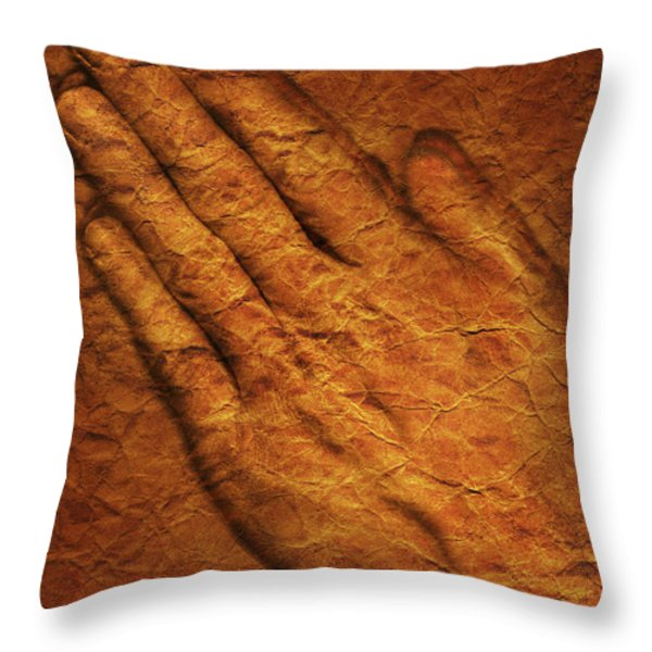 Praying Hands Throw Pillow by Don Hammond