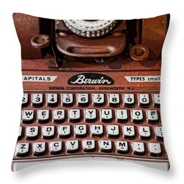 Pre Computer Throw Pillow by Heather Applegate