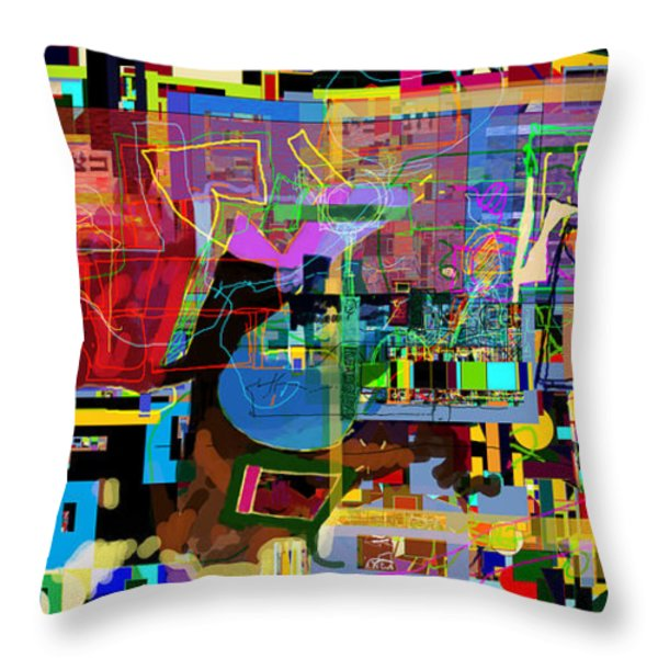 precious is man for he is created in the Divine Image 11 Throw Pillow by David Baruch Wolk