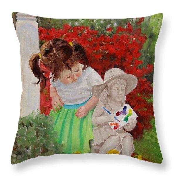 Precious Memories Two Throw Pillow by Laura Lee Zanghetti
