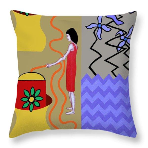 Precious Water Throw Pillow by Patrick J Murphy