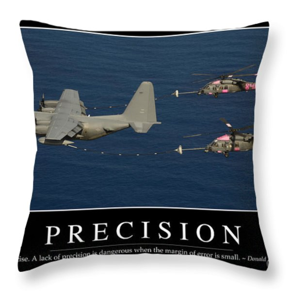 Precision Inspirational Quote Throw Pillow by Stocktrek Images