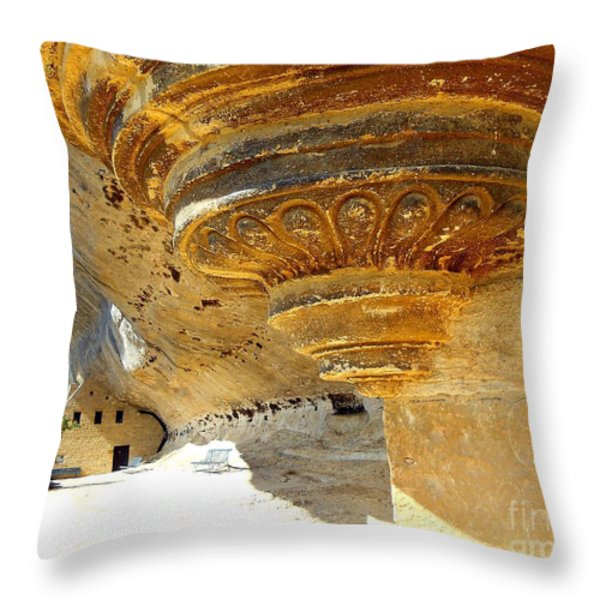 Prehistoric Throw Pillow by Lauren Hunter